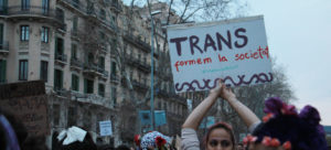 Pancarta trans